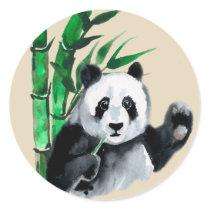 Happy Panda & Bamboo Stickers Seals