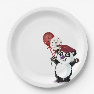 Happy Panda Bear Graduate Paper Plate