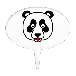 Happy Panda Face Cake Pick