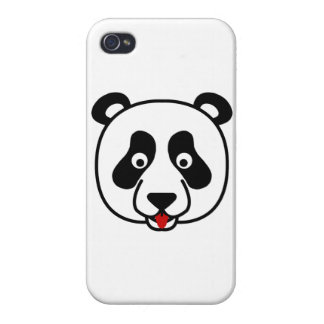 Happy Panda Face Cases For iPhone 4