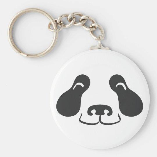Happy Panda Face - Keychain