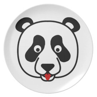 Happy Panda Face Dinner Plates