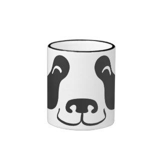 Happy Panda Face Ringer Coffee Mug