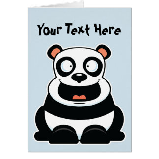 Happy Panda Greeting Card