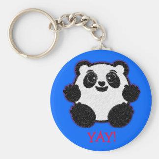 Happy Panda Keychain