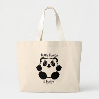 Happy Panda Large Tote Bag