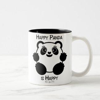 Happy Panda Two-Tone Coffee Mug