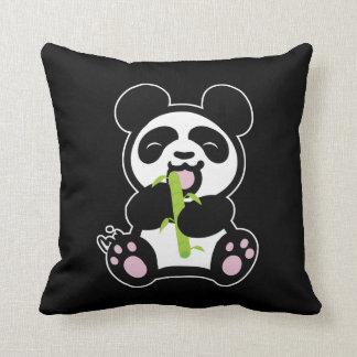 Happy Panda Pillow black