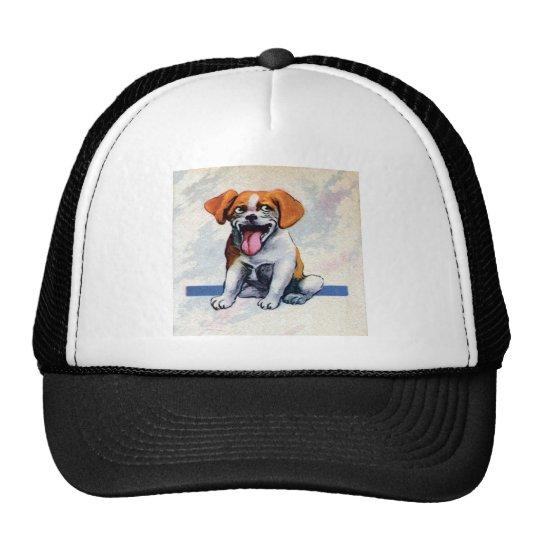 Happy Panting Beagle Dog Trucker Hat