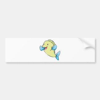 Happy Parrot Fish Cartoon Bumper Sticker