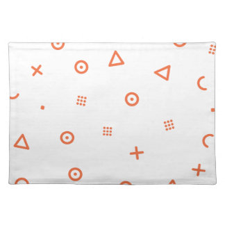 Happy Particles Cloth Placemat