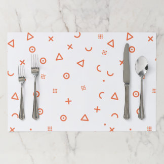 Happy Particles Paper Placemat