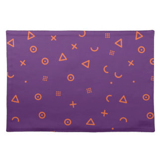 Happy Particles Purple Placemat
