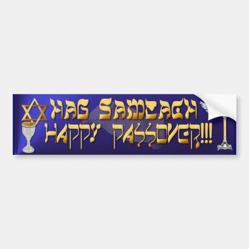 Happy Passover Bumper Sticker Car Bumper Sticker