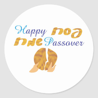 Happy Passover Classic Round Sticker
