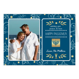 Happy Passover. Customizable Photo Cards Greeting Card