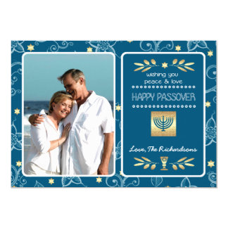 Happy Passover. Customizable Photo Cards