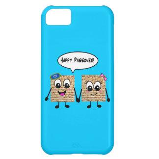 Happy Passover Cute Matzot - blue iPhone 5C Cover