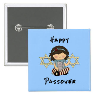 Happy Passover Girl Buttons