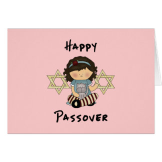 Happy Passover Girl Card