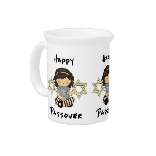 Happy Passover Girl Drink Pitchers
