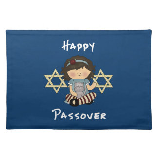 Happy Passover Girl Cloth Placemat