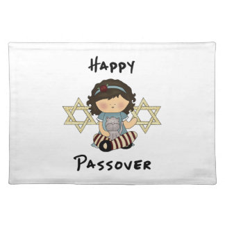 Happy Passover Girl Cloth Place Mat