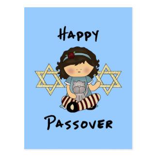 Happy Passover Girl Postcard