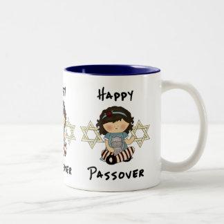 Happy Passover Girl Two-Tone Coffee Mug