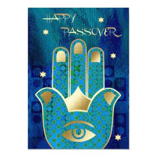 Happy Passover. Hamsa Lucky Symbol Cards