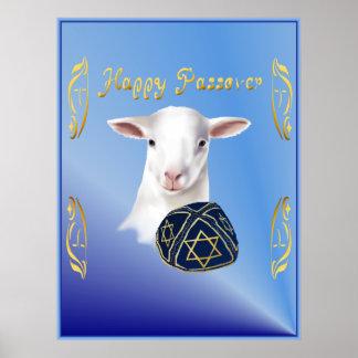 Happy Passover Lamb Poster