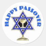 Happy Passover Round Stickers