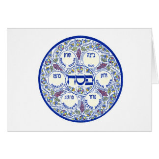 Happy Passover Seder Plate Card