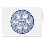 Happy Passover Seder Plate Greeting Card