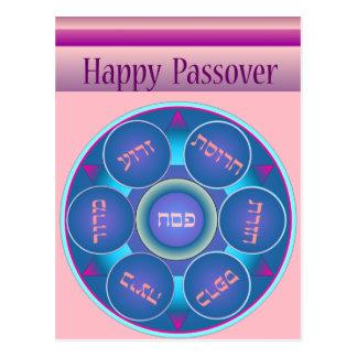 Happy Passover Seder Plate no.2 Postcard