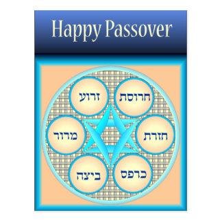 Happy Passover Seder Plate no.3 Postcard