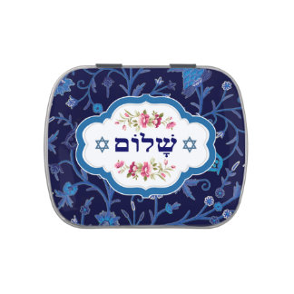 Happy Passover Shalom at Pesach Candy Tins