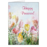 Happy Passover Spring Tulips Greeting Cards