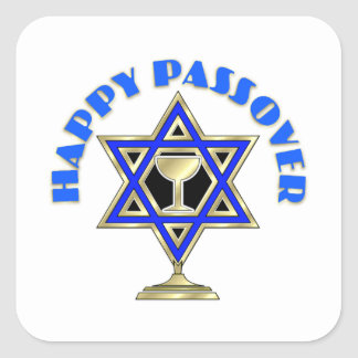 Happy Passover Square Sticker