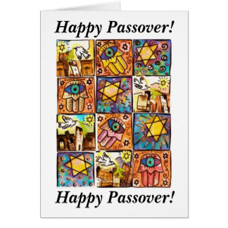 Happy Passover - Starry Night Israel Ivory Card