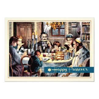 Happy Passover.Vintage Seder Scene Cards