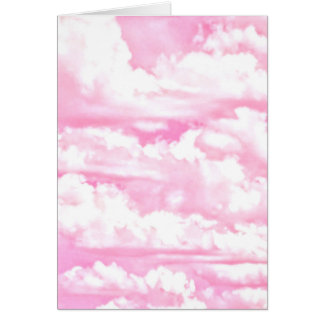 Happy Pastel Pink Clouds Card