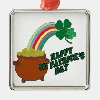 Happy Patrick s Day Metal Ornament