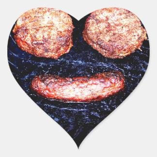 Happy Patties and Brat Heart Sticker