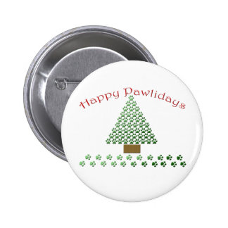 happy pawlidays copy1 pinback buttons
