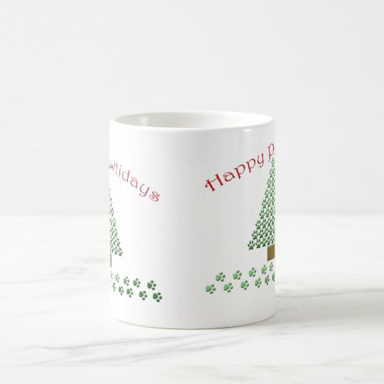 happy pawlidays copy1 coffee mug