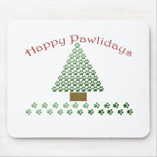 happy pawlidays copy1 mouse pad