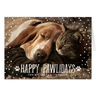 Happy Pawlidays   Folded Holiday Photo Card