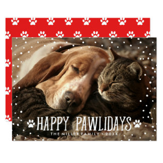 Happy Pawlidays | Holiday Photo Card