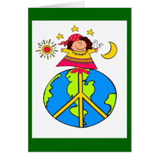 "HAPPY, PEACEFUL ""EARTH DAY!"" GREETING CARDS"